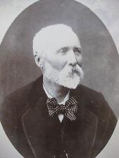 Photographie ancienne 1912 tirage albumine contrecollé portrait vieil homme