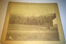 Antique Victorian American Patriotic Big Building US Flag! Outdoor Cabinet Photo