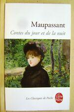 Livre Contes du jour et de la nuit Maupassant  livre de poche /T30
