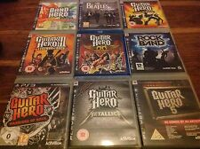 Guitar Hero PS3 X9 Metallica 3 Legends Rock World Tour Aerosmith Warriors Band 5