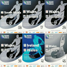 RWC 2011 WALES 6 x Rugby Programmes (Rugby World Cup) a