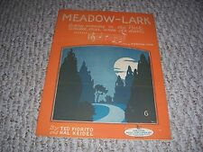 1926 Meadow-Lark In the Park Whistle Like Ted Fiorito Hal Keidel Sheet Music