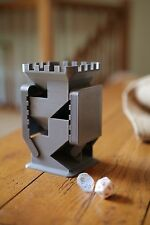 3D Printed Dice Tower With Folding Trays