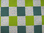 Green Patchwork Polycotton Prints Craft/Dress Fabric 112cm Wide SOLD PER METRE