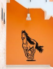 Wall Stickers Vinyl Decal Galloping Horse Racing Animal Cool Decor (ig509)