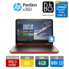 HP Pavilion x360 13 TOUCHSCREEN Beats Tablet Laptop i3 2.3ghz 4gb 1tb Rosso 2016