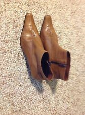 Italian Fine Leather Booties 39-9 Brown Just Reduced!