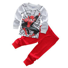Kids Boys Girls Super Hero Clothes Hoodies T-Shirt Pants Pyjamas Outfits Costume