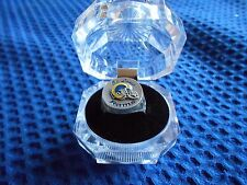 ST. LOUIS RAMS N.F.L. FOOTBALL, GIFT, PEWTER HAND PAINTED RING, SIZE 8