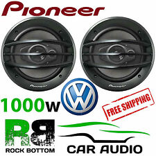 "PIONEER VW T5.1 TRANSPORTER 2006  8"" 3 Way 1000 W Front Door Speakers & Brackets"
