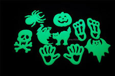 10 Large Scary Halloween Glow in the Dark Pieces