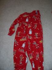 ADULTS XXL - NICK & NORA -  SOCK PUPPET ONESIE / PAJAMAS - RED, BROWN - NWT