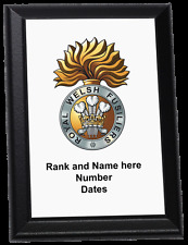 Personalised Wall Plaque - Royal Welsh Fusiliers (up to 1921)