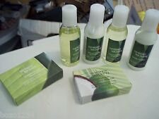 6pc  BATH & BODY WORKS TRAVEL LOT RAINKISSED LEAVES SHOWER GEL SHAMPOO LOTION ++