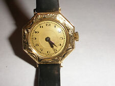 Nice Vintage Swiss Liberty 14k solid yellow gold ladies decorated watch works