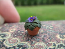 "Dollhouse Miniatures ~ 1/2"", 1:24, Half Scale/Inch ~ African Violet in Terra Pot"