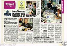 Coupure de presse Clipping 1986 (2 pages) Jean d'Ormesson