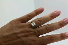 2CT SOLITAIRE ENGAGEMENT BRILLIANT PRINCESS CUT RING SOLID 14K YELLOW   GOLD