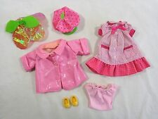 STRAWBERRY SHORTCAKE Doll Clothing Lot of 6 Pieces Shoes Dress Hats Jacket