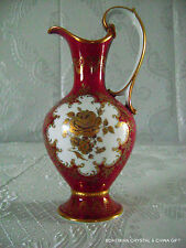 VTG GERMAN BAVARIA RW RUDOLF WACHTER ROYAL RED PORCELAIN PITCHER DECANTER CARAFE