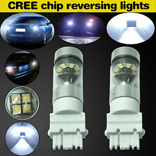 2x HID White 3156 6000K 100W 20-SMD LED Cree XBD Backup Reverse Light Bulb Lamp