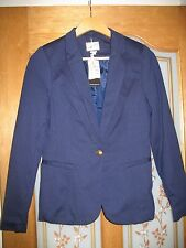ladies pull and Bear tailored navy smart jacket in size medium