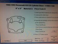 Kawasaki KX125  Cylinder base Gasket 1992 1993