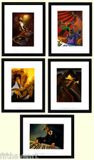 Justin Bua Musical Art Poster Set  5  Custom Framed Prints A+ Quality