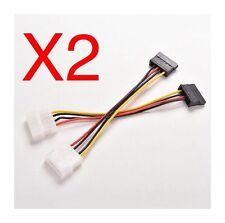 2pcs 4-Pin IDE Molex to 15-Pin Serial ATA SATA Cable Adapter.                A24