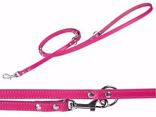 Universal Leather Dog Leash Lead Training Hands Free