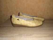 Natura Corridore Pantofola / Ballerina Tgl 10 = 44,5 beige & Cuoio verniciato