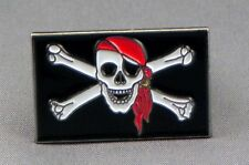 Jolly Roger / Pirate Flag Enamel & Metal Lapel / Pin Badge - 24mm BRAND NEW