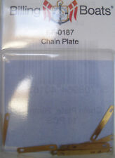 Billing Boats Accessory BF-0187- 10 x 20mm Brass Chain Plate New Pack