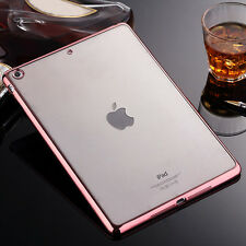 NEW Luxury Crystal Clear Soft Silicone TPU Back Case Bumper Cover For Apple iPad