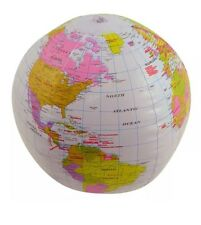 Inflatable Blowup Globe 40cm Geography Earth World Atlas Map Bech Ball Party Toy