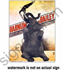 BARNUM AND BAILEY CIRCUS ADVERTISEMENT REPRODUCTION / OLD VINTAGE AD, ELEPHANT