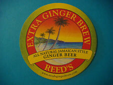 Beer Coaster Bar Mat ~*^*^*~ REED'S All Natural Jamaican Style Extra Ginger Brew