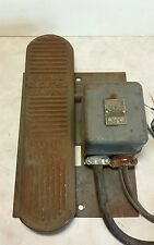 Vtg Cast Iron Foot Pedal & L153 Switch - Furnas Electric Co