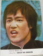 "Color Picture Card of Bruce Lee's movie ""Enter the Dragon"" from India 1970'S Rar"