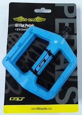 GT Bike Flat Pedals 9/16 in PC Plastic Lt Blue BMX Mountain Park Fixie Cruiser