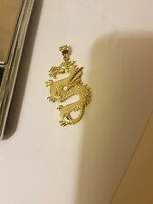 10k solid gold dragon pendant