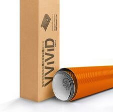VViViD XPO Orange Dry Carbon texture Vinyl Car Wrap 1ft x 5ft sticker 3mil sheet