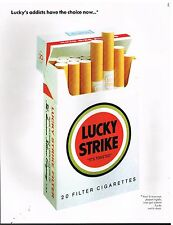 Publicité Advertising 1990 Les Cigarettes Lucky Strike