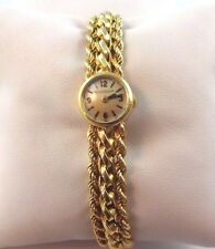 Vintage Solid 18k Yellow Gold Jaeger LeCoultre Vintage Rear Wind Ladies Watch