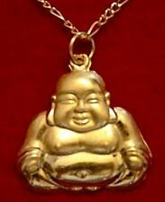 LOOK Buddah Silver Buddha Pendant Charm Gold Plated Jewelry