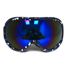 NEW Anti Fog Dual Lens Snow Ski Skiing Snowboard Snowmobile Goggles Blue Silver