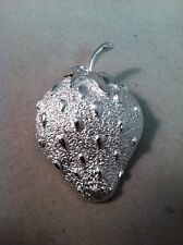 Silver Tone Pin/ Brooch, Strawberry Sarah Coventry