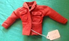 Umber Faux Suede Jacket with Large Breast Pockets for Ken Barbie Doll KNOW22