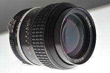 Nikon Nikkor 105mm f/2.5 Ai lens. EXC++ cond. +filter+hood. Legendary optics!