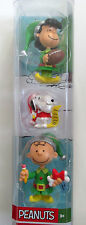 "Peanuts Lucy Snoopy Charlie Brown Holiday 3"" Figures Toys 2016 New in Package"
